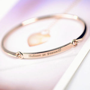 Custom Engraved Bracelet Bangle by Pesci Moda