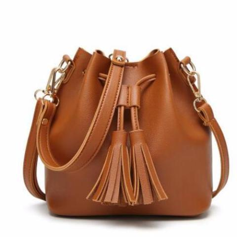 U Shape Tassel Shoulder Bag by Pesci Moda