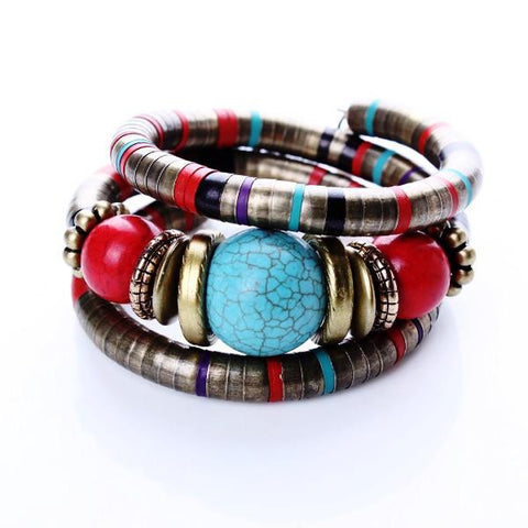 Tibetan Fashion Bead Bracelet / Bangle by Pesci Moda