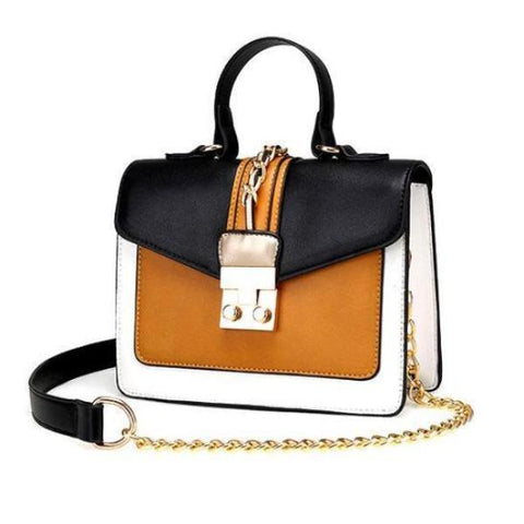 Retro Leather Cross Body Bag by Pesci Moda