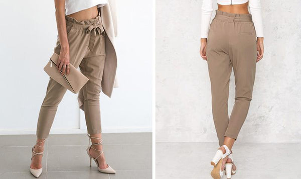 Chiffon High Waist Harem Pants by Pesci Moda