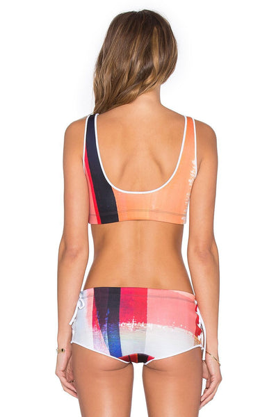 Striped Multicolor Push Up Bathing Suit by Pesci Moda