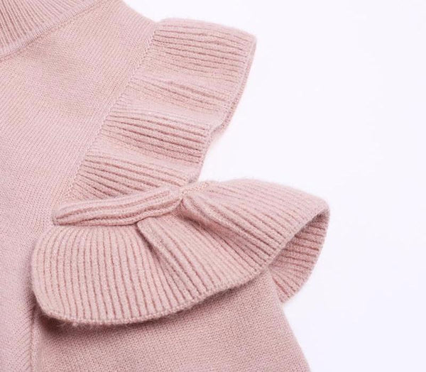 Pink Off Shoulder Sweater