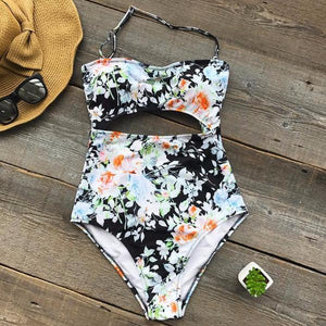 MidNight Floral Padded Swimsuit by Pesci Moda