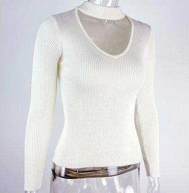 Casual V-Neck Short Pullover by Pesci Moda