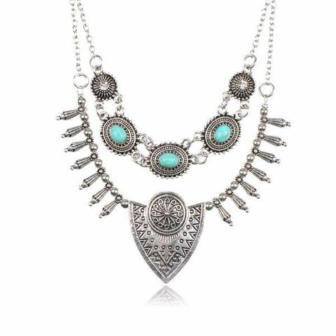 Bohemian Long Statement Necklace by Pesci Moda