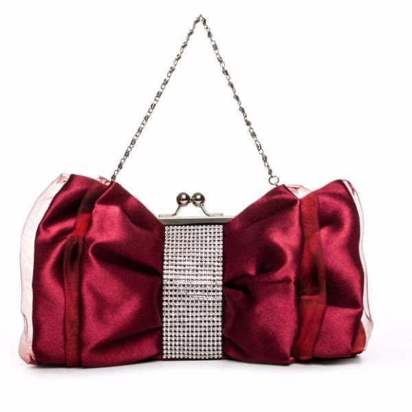 Bow Shape Bridal Clutch Bag by Pesci Moda