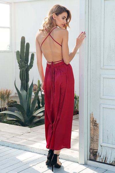 Backless Sequin Maxi Dress