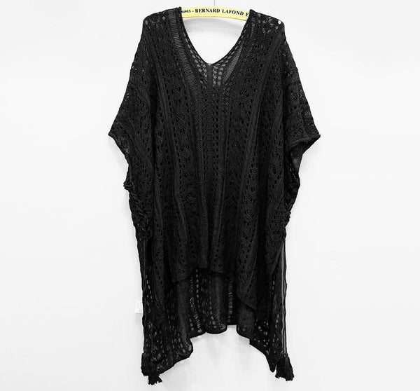 Knitted Lace Crochet Cover Up by Pesci Moda