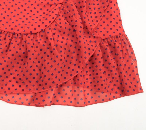 Dotted Backless Mini Party Dress by Pesci Moda