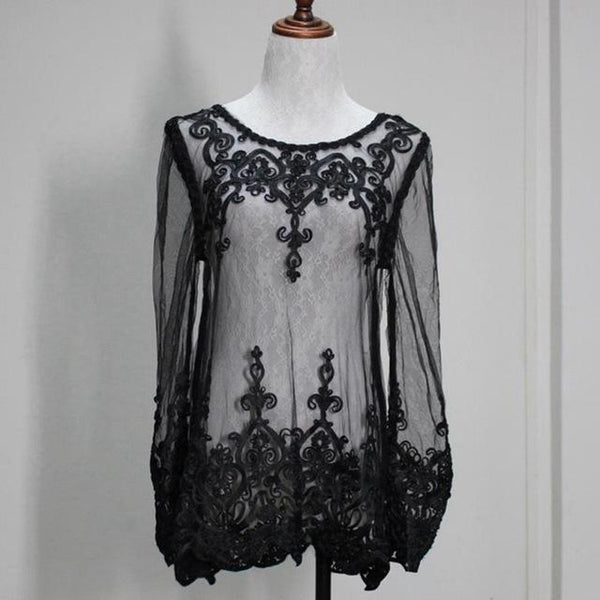 White Embroidery Lace Cover Up