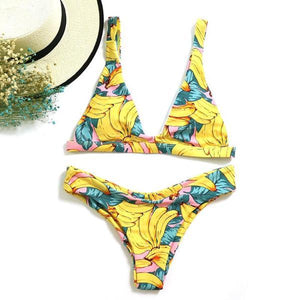 Sexy Summer Banana Bandeau Bikini Sets