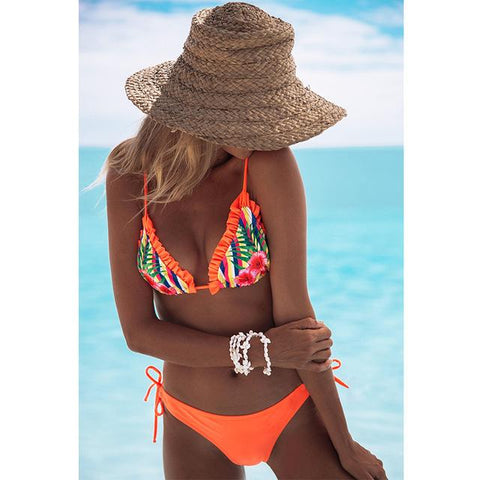 Hawaii Love Ruffle Bikinis