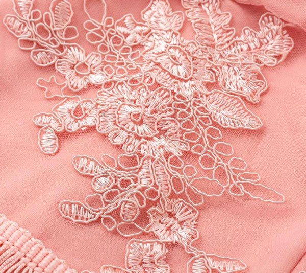 Light Pink Embroidery Tassel Dress