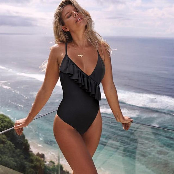 Beach Hot Ruffle One-piece Swimsuit