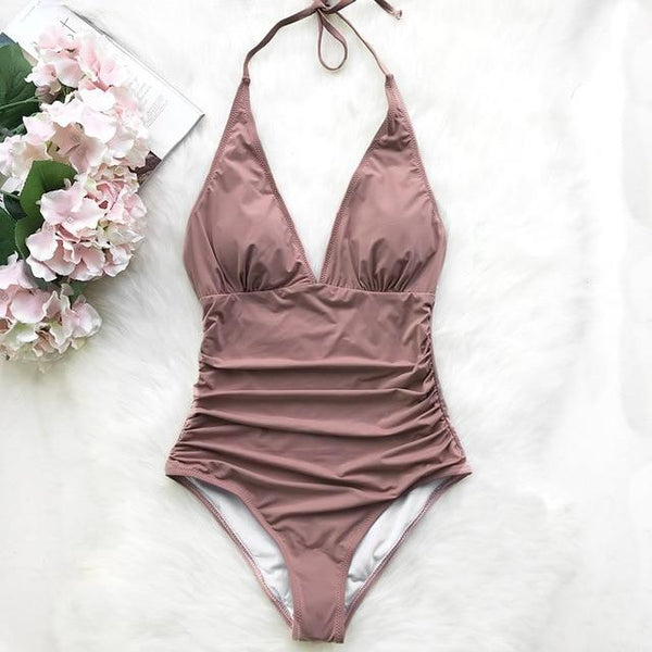 Dusty Pink Halter Swimwear