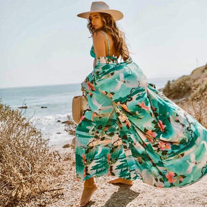 Green Beach Dress Cover-Up