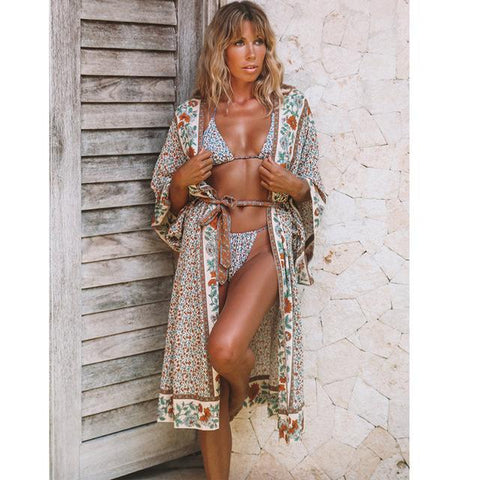 Loose Boho Kimonos Beach Dress