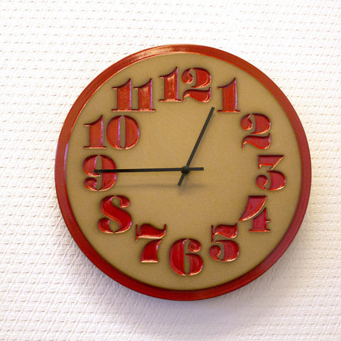 Heath Ceramics Stencil Clock