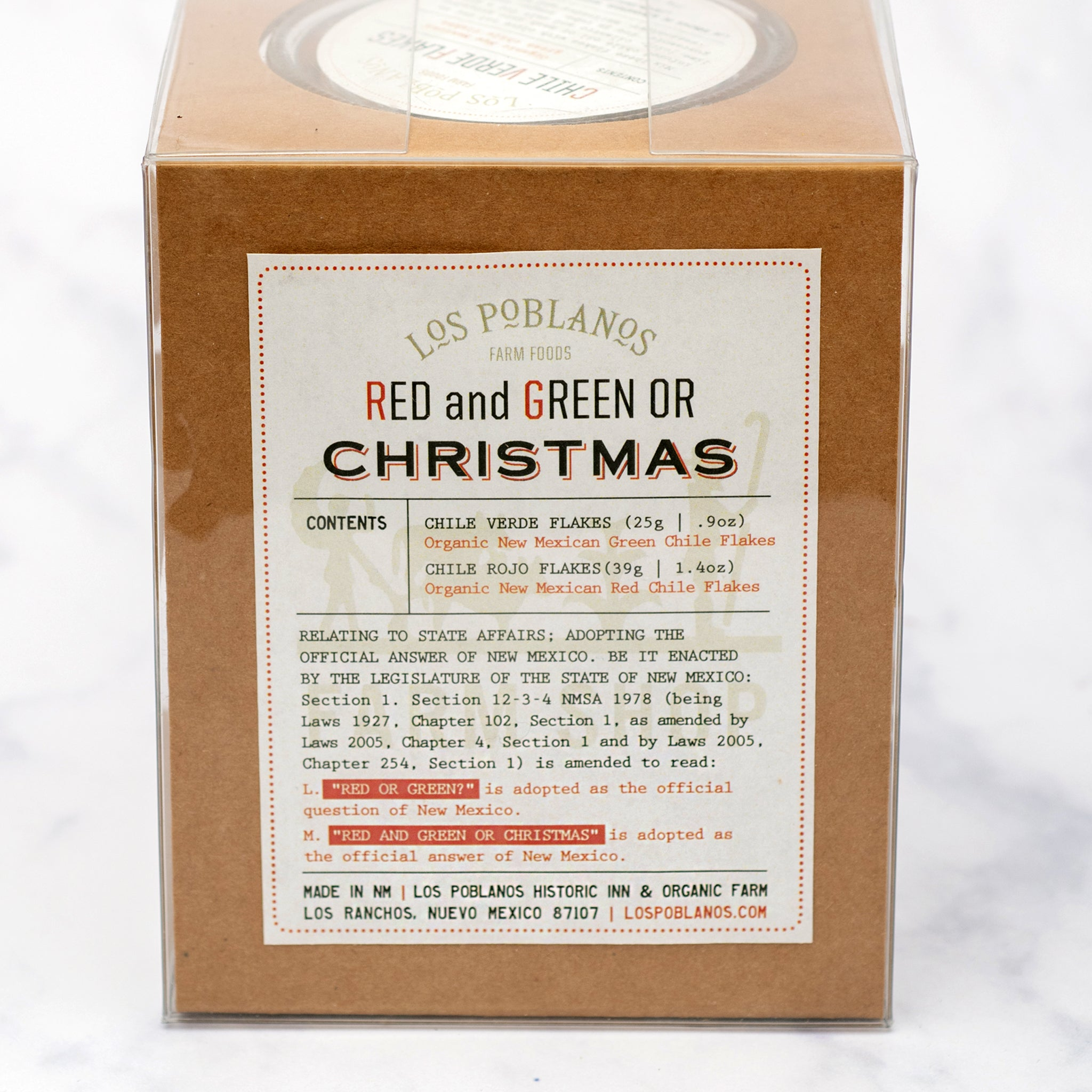 Organic Red & Green Chile Gift Set
