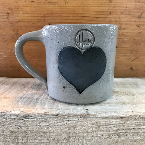 "House Industries ""Heart"" Mug-Light Glaze"