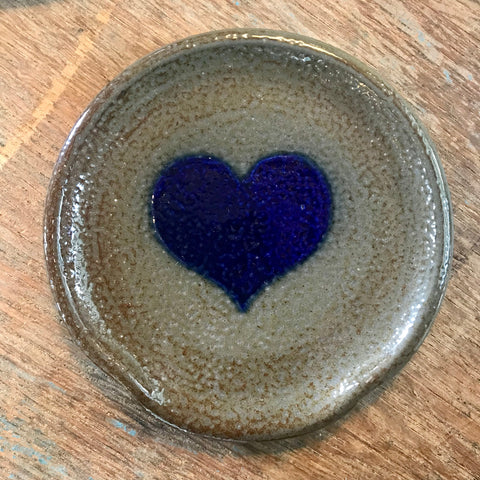 House Industries Heart Spoon Rest-Dark Glaze