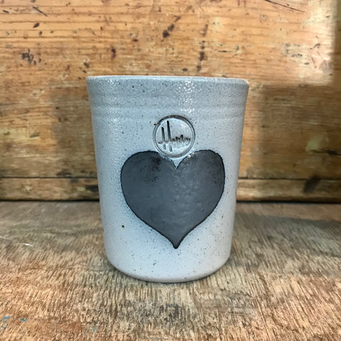 "House Industries ""Heart"" Tumbler-light Glaze"