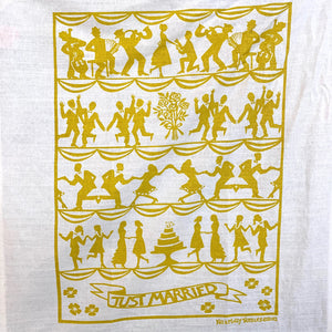 Just Married Linen Dish Towel