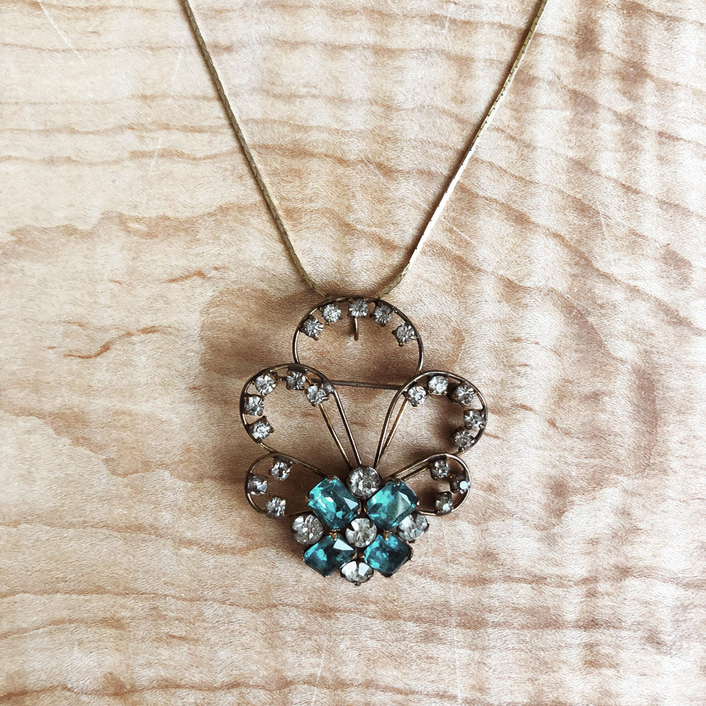 """For the Moment"" Gold-Filled Clover Necklace"