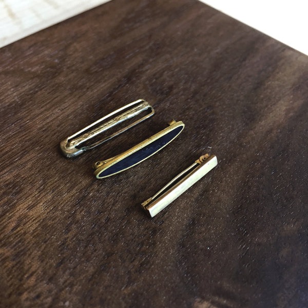 Antique Brass Safety Pins