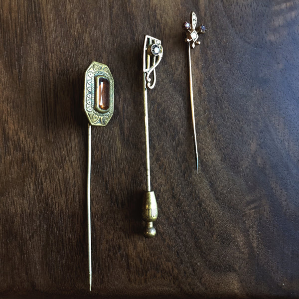Antique Brass Hat Pins