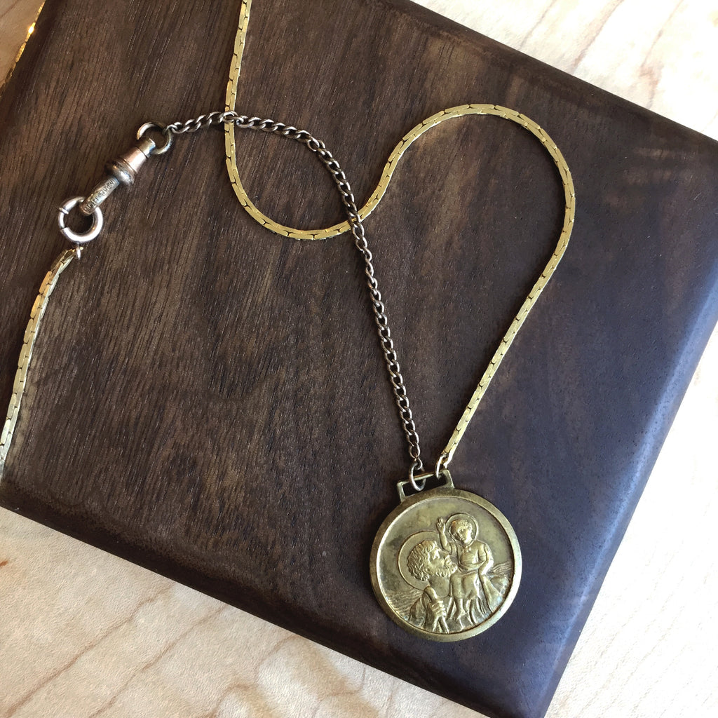 Antique Italian St. Christopher Necklace