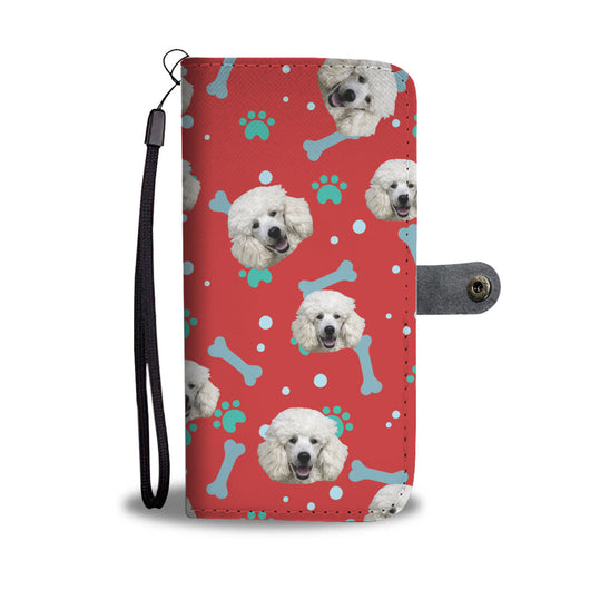 Personalized Poodle Face Wallet Case