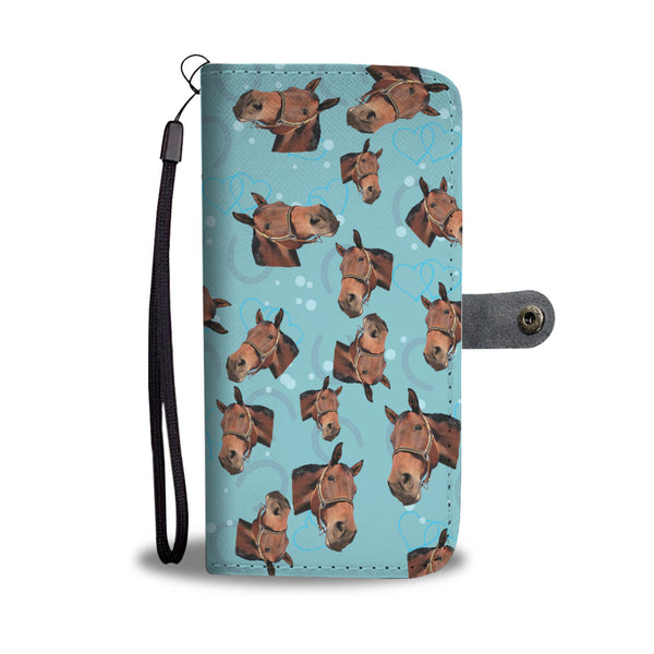 Personalized Horse Face Wallet Case