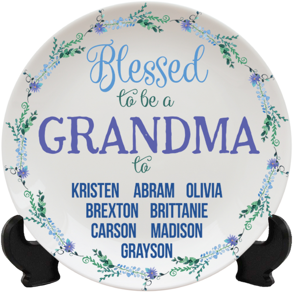 Blessed to Be a Grandma - Plates