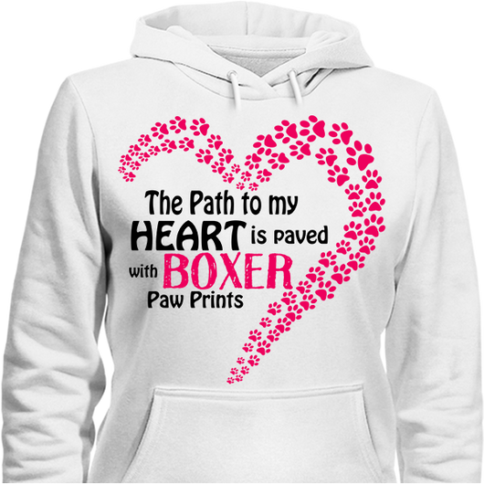 Paved with Boxer Paw Prints T-shirt