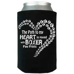Paved with Boxer Paw Prints - Can Koozie