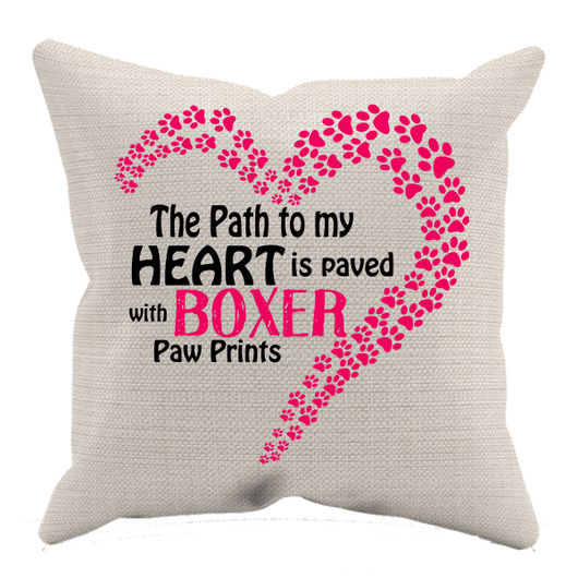 Paved with Boxer Paw Prints - Pillow Case