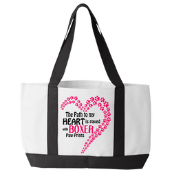 Paved with Boxer Paw Prints - Tote Bags