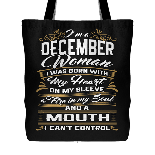 December Birthday Tote Bags