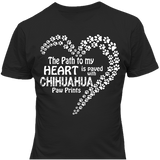 Paved with Chihuahua Paw Prints T-shirt