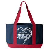 Paved with Chihuahua Paw Prints - Tote Bags