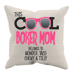 Cool Boxer Mom - Pillow Case