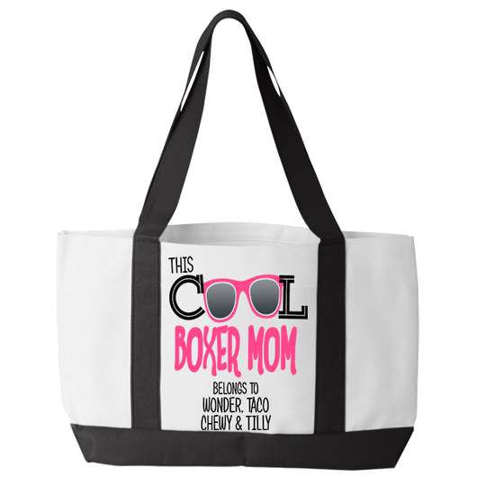 Cool Boxer Mom - Tote Bags Personalized