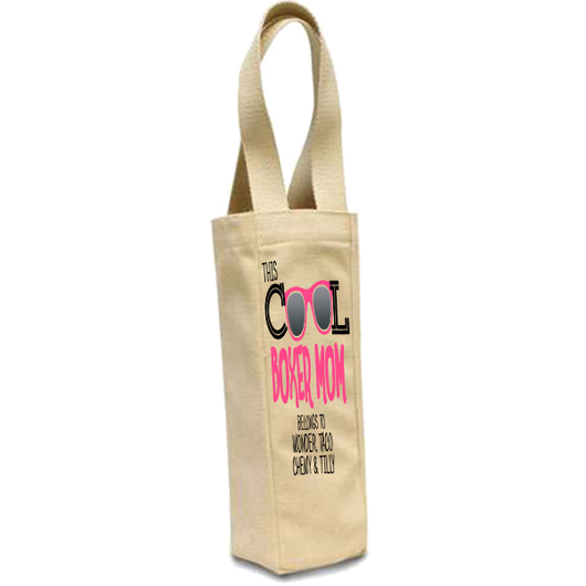 Cool Boxer Mom - Wine Bags Personalized