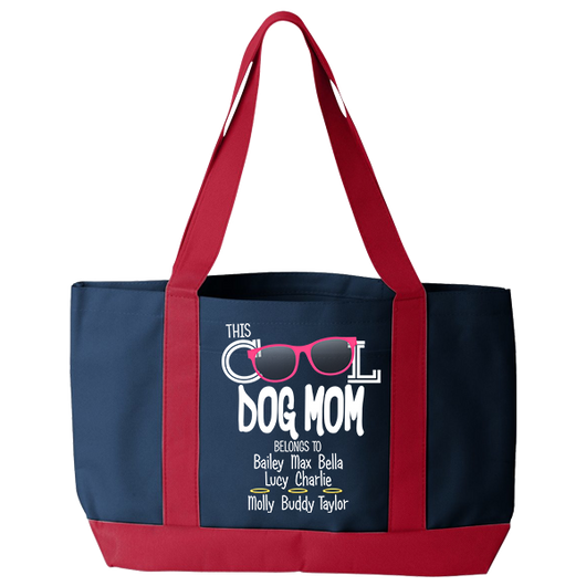 Cool Dog Mom - Tote Bags Personalized