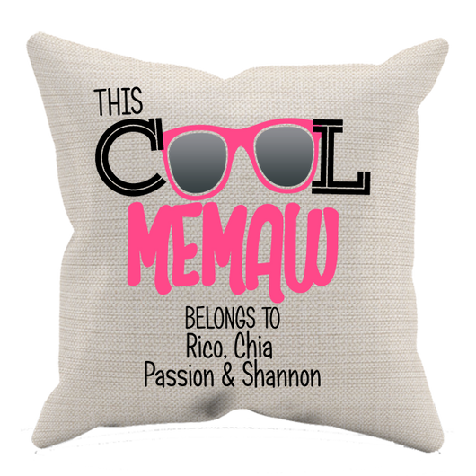 This Cool Grandma Pillow Case Personalized