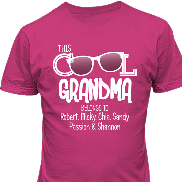 This Cool Grandma T-shirt Personalized