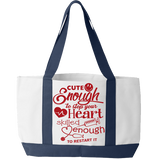 Funny Nurse Tote Bag - Cute Enough