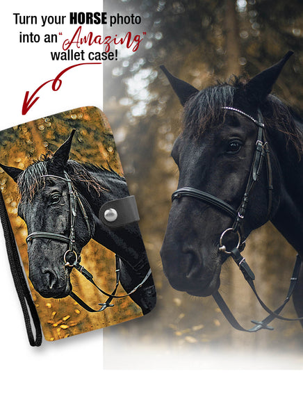 Personalized Horse Wallet Case - FREE SHIPPING